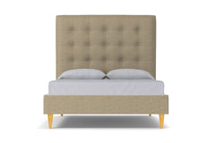 Palmer Upholstered Bed :: Leg Finish: Natural / Size: King