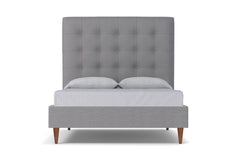Palmer Upholstered Bed :: Leg Finish: Pecan / Size: King