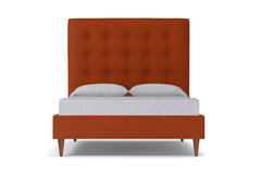 Palmer Upholstered Bed :: Leg Finish: Pecan / Size: Queen Size