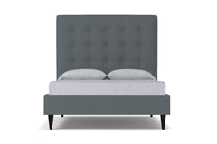 Palmer Upholstered Bed :: Leg Finish: Espresso / Size: California King