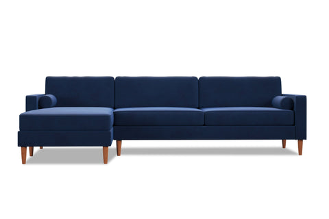 Samson 2pc Sectional Sofa :: Leg Finish: Pecan / Configuration: LAF - Chaise on the Left
