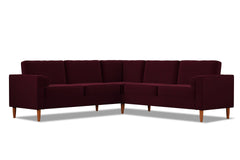 Samson 2pc L-Sectional Sofa :: Leg Finish: Pecan