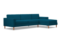 Samson 2pc Sectional Sofa :: Leg Finish: Pecan / Configuration: RAF - Chaise on the Right