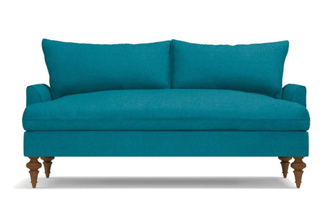 Saxon Apartment Size Sofa :: Leg Finish: Pecan / Size: Apartment Size  - 72