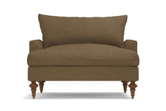 Saxon King Chair :: Leg Finish: Pecan