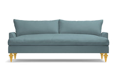 Saxon Velvet Sofa :: Leg Finish: Natural