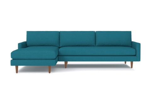 Scott 2pc Sectional Sofa :: Leg Finish: Pecan / Configuration: LAF - Chaise on the Left
