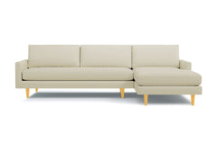 Scott 2pc Sectional Sofa :: Leg Finish: Natural / Configuration: RAF - Chaise on the Right