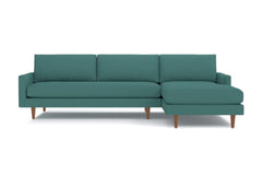 Scott 2pc Sectional Sofa :: Leg Finish: Pecan / Configuration: RAF - Chaise on the Right