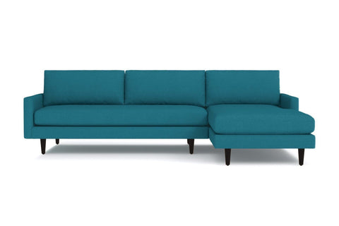 Scott 2pc Sectional Sofa :: Leg Finish: Espresso / Configuration: RAF - Chaise on the Right