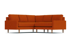 Scott 2pc L-Sectional Sofa :: Leg Finish: Pecan