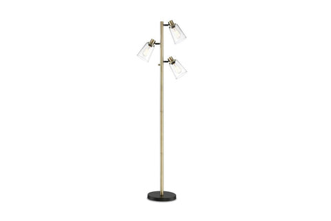 Stenton 3 Light Floor Lamp GOLD