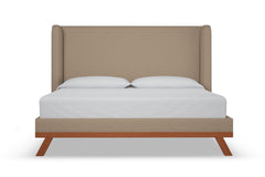 Tatum Upholstered Bed :: Leg Finish: Pecan / Size: Queen Size