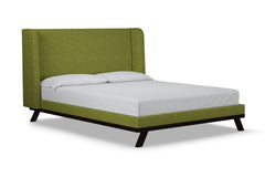 Tatum Upholstered Bed :: Leg Finish: Espresso / Size: Queen Size