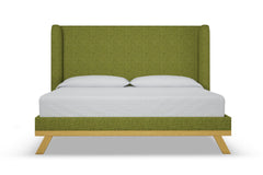 Tatum Upholstered Bed :: Leg Finish: Natural / Size: Full Size
