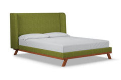 Tatum Upholstered Bed :: Leg Finish: Pecan / Size: Full Size
