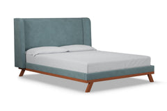 Tatum Upholstered Bed :: Leg Finish: Pecan / Size: California King