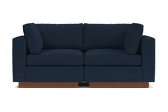 Taylor Plush 2pc Modular Sofa :: Leg Finish: Pecan