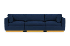 Taylor Plush 3pc Modular Sofa :: Leg Finish: Natural