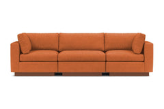 Taylor Plush 3pc Modular Sofa :: Leg Finish: Pecan