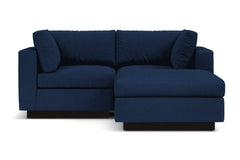 Taylor Plush 3pc Modular Reversible Chaise Sofa :: Leg Finish: Espresso