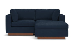 Taylor Plush 3pc Modular Reversible Chaise Sofa :: Leg Finish: Pecan