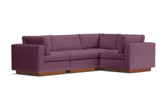 Taylor Plush 4pc Modular L-Sectional Sofa :: Leg Finish: Pecan