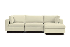 Taylor Plush 4pc Modular Chaise Sectional Sofa :: Leg Finish: Espresso