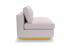 Taylor Plush Armless Seat :: Leg Finish: Natural