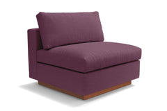 Taylor Plush Armless Seat :: Leg Finish: Pecan