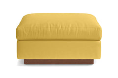 Taylor Plush Ottoman :: Leg Finish: Pecan