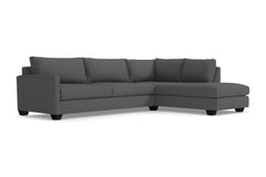 Tuxedo 2pc Sectional Sofa :: Leg Finish: Espresso / Configuration: RAF - Chaise on the Right