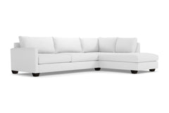 Tuxedo 2pc Sleeper Sectional :: Leg Finish: Espresso / Configuration: RAF - Chaise on the Right / Sleeper Option: Deluxe Innerspring Mattress