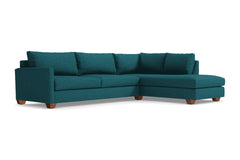 Tuxedo 2pc Sectional Sofa :: Leg Finish: Pecan / Configuration: RAF - Chaise on the Right