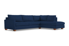 Tuxedo 2pc Sleeper Sectional :: Leg Finish: Pecan / Configuration: RAF - Chaise on the Right / Sleeper Option: Deluxe Innerspring Mattress