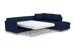 Tuxedo 2pc Sleeper Sectional :: Leg Finish: Natural / Configuration: RAF - Chaise on the Right / Sleeper Option: Deluxe Innerspring Mattress