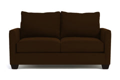 Tuxedo Apartment Size Sleeper Sofa :: Leg Finish: Espresso / Sleeper Option: Deluxe Innerspring Mattress