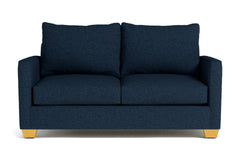 Tuxedo Twin Size Sleeper Sofa :: Leg Finish: Natural / Sleeper Option: Memory Foam Mattress