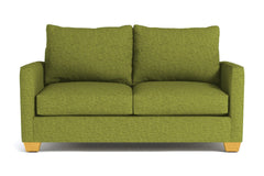 Tuxedo Apartment Size Sleeper Sofa :: Leg Finish: Natural / Sleeper Option: Deluxe Innerspring Mattress