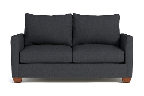 Tuxedo Apartment Size Sofa :: Leg Finish: Pecan / Size: Apartment Size - 69