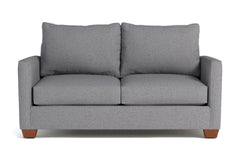 Tuxedo Twin Size Sleeper Sofa :: Leg Finish: Pecan / Sleeper Option: Memory Foam Mattress