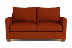 "Tuxedo Apartment Size Sofa :: Leg Finish: Pecan / Size: Apartment Size - 69""w"