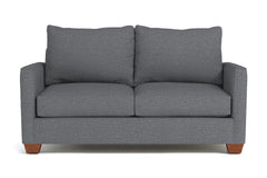 Tuxedo Twin Size Sleeper Sofa :: Leg Finish: Pecan / Sleeper Option: Deluxe Innerspring Mattress
