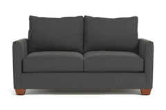 Tuxedo Apartment Size Sleeper Sofa :: Leg Finish: Pecan / Sleeper Option: Deluxe Innerspring Mattress