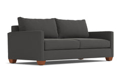 Tuxedo Queen Size Sleeper Sofa :: Leg Finish: Pecan / Sleeper Option: Deluxe Innerspring Mattress