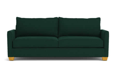 Tuxedo Queen Size Sleeper Sofa :: Leg Finish: Natural / Sleeper Option: Deluxe Innerspring Mattress