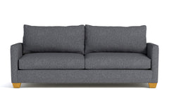 Tuxedo Queen Size Sleeper Sofa :: Leg Finish: Natural / Sleeper Option: Memory Foam Mattress