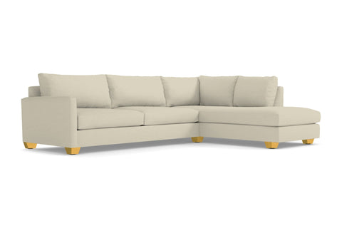 Tuxedo 2pc Sectional Sofa :: Leg Finish: Natural / Configuration: RAF - Chaise on the Right