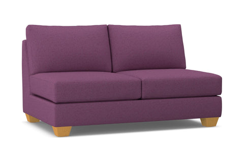 Tuxedo Armless Apartment Size Sofa :: Leg Finish: Natural
