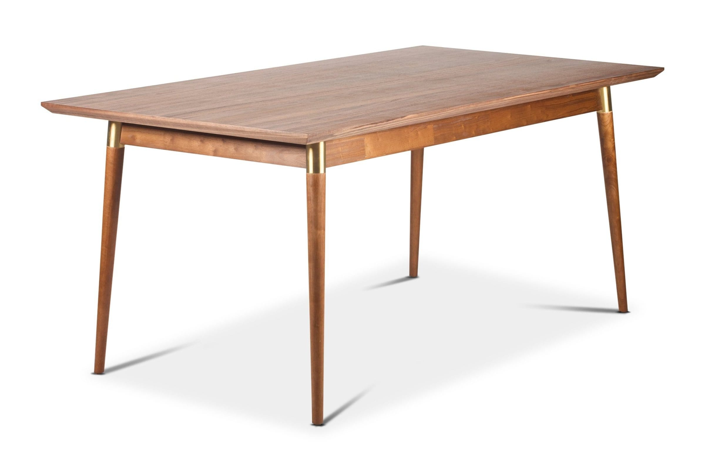 Victory Rect. Dining Table WALNUT/GOLD - Modern Dining Tables Sold by Apt2B